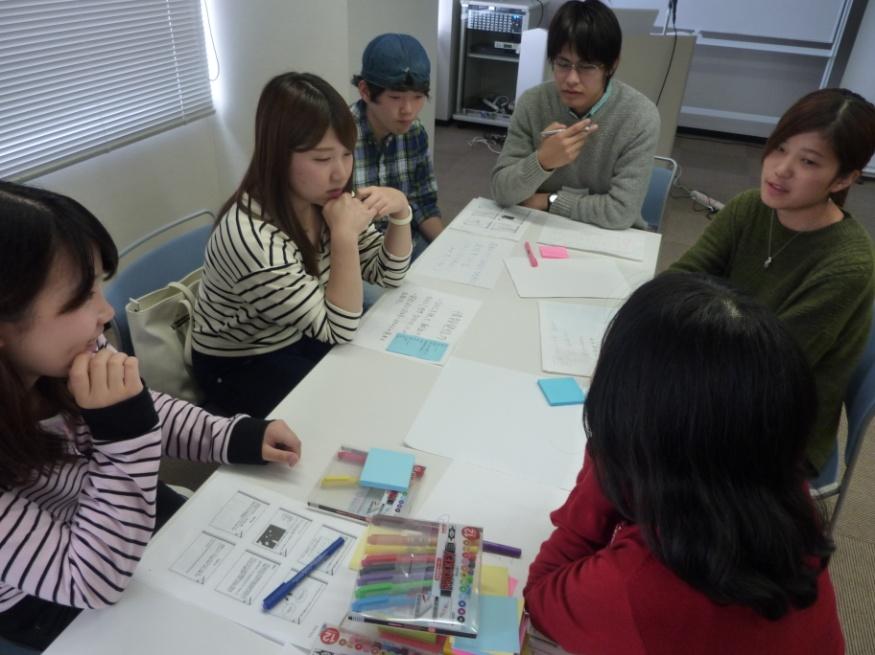 プロトタイピングの様子。各グループでアイデアを見える化します。