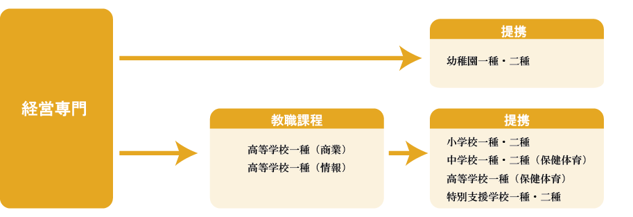 経営学部教育免許状取得プログラムチャート
